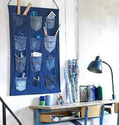 Recycling jeans pockets