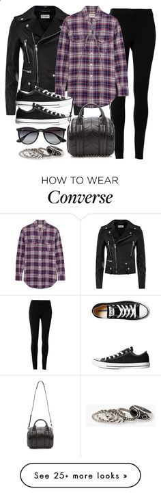 Style #9834 by vany-alvarado on Polyvore featuring Yves Saint Laurent, Max Studio, Ray-Ban, Converse, Alexander Wang, MANGO, women's clothing, women, female and woman