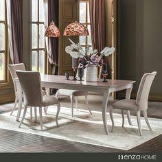 #Elizabeth #Yemek Odası Takımı yumuşak çizgileri ve eşsiz #renk kombinasyonu ile #mutlu #akşam yemeklerinizi unutulmaz kılacak.