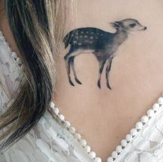 Temporary Tattoo Fawn and Moth (Includes 2 Tattoos). $10.00, via Etsy.