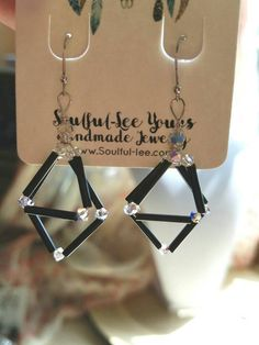 Check out this item in my Etsy shop https://www.etsy.com/listing/262521084/geometric-earrings-black-geometric