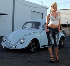 vw and woman. both have nice curves