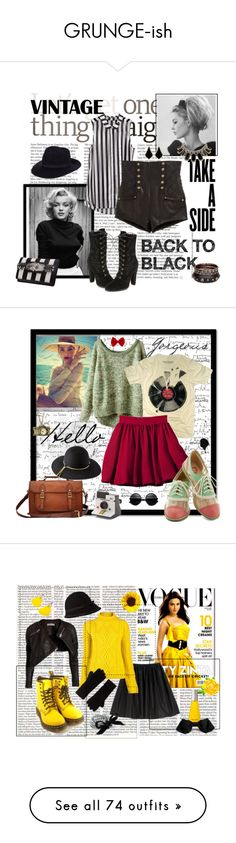 """""""GRUNGE-ish"""" by crazyfantasy ❤ liked on Polyvore featuring Balmain, River Island, Kendra Scott, Kate Spade, Pablo, Polaroid, PalmerCash, H&M, Lanvin and V AVE SHOE REPAIR"""