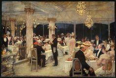 Un soir de grand prix au pavillon d'Armenonville by Henri Gervex