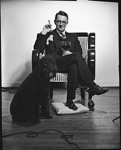 [Walker Evans with Poodle]  Unknown, American  Date: 1940s Medium: Film negative Dimensions: 4 x 5 in. Classification: Negatives Credit Line: Walker Evans Archive, 1994