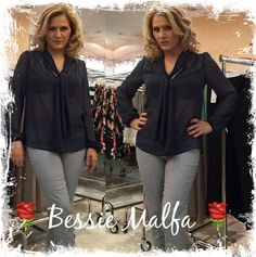 Bessie Malfa, famous greek actress, looks adorable in her total matis casual chic outfit!