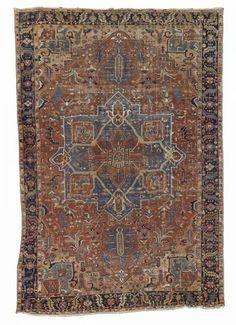 Lot 281. A HERIZ CARPET, North West Persia, 579cm x 392cm. Bonhams Period Design auction including carpets 25 February 2014 in London