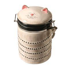 Cat Cookie Jar, Cat Cookies, Ceramic Cookie Jar, Ceramic Jars, Porcelain Mugs, Cookie Jars, Baby Tea, Cat Store, Vintage Cookies