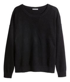 H&M - Premium quality - A/W2015 - Cashmere sweater - Black