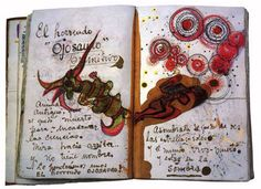 A great blog post about diaries and notebooks of authors and visionaries. These pages are from Frida Kahlo's diary...