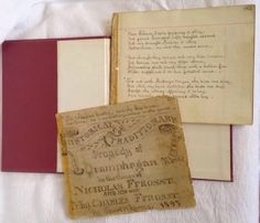 Maine-1893-Handwritten-Manuscript-Tragedy-Of-Quamphegan-By-George-FROSST-To-Emma.  Nice vertical cursive writing throughout.