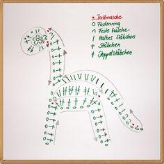 verplüscht and sewn: Crochet - Dinosaurs for Applis and Grannys Crochet Dinosaur Patterns, Crochet Motif Patterns, Crochet Chart, Crochet Patterns Amigurumi, Crochet Toys, Crochet Stitches, Crochet Baby, Crochet Dragon, Diy Stuffed Animals