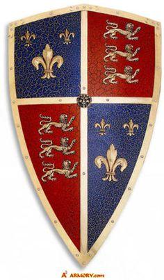 Shield of the Dark Prince (aka Black Prince) Uk History, Tudor History, British History, Family History, Anniversaire Star Wars, Medieval Shields, Templer, Plantagenet, Medieval World
