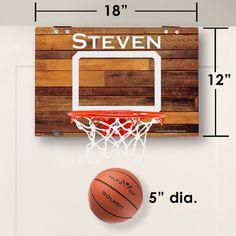 Mini Basketball Hoop, Custom Basketball, Basketball Gifts, Ball Storage, Wood Images, Beach Wood, Blue Wood, Grey Wood, Picture Logo