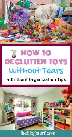 Are your wondering how to declutter toys without upseting the kids? I have great tips to help you purge toys with your kids and brilliant organization ideas