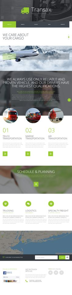 Transportation Company Joomla Template