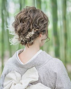 Wedding Images, Wedding Styles, Japanese Wedding, Hair Arrange, Japanese Hairstyle, Wedding Hairstyles, Short Hair Styles, Kimono, Marriage