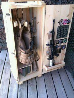 Repurposed ammo crate!