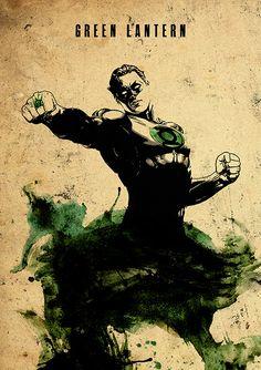 Green Lantern Minimalist Movie Poster by moonposter on Etsy - visit to grab an unforgettable cool Super Hero T-Shirt! Green Lantern Hal Jordan, Green Lantern Corps, Green Lanterns, Comic Book Heroes, Comic Books Art, Comic Art, Arte Dc Comics, Dc Comics Art, Marvel Vs