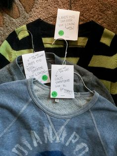 "I've heard that adult clothes don't typically do well at yard sales, buy between our three families, we had maybe a total of 25-30 adult clothing pieces that we displayed, and they almost all sold! They were well-labeled, easy to see, and people gobbled them up—even at ""premium"" yard sale prices."