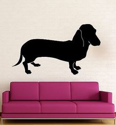 Wall Stickers Vinyl Decal Dachshund Dog Pet Funny Animal Room Decor (ig1325)