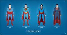 Superman suit evolution