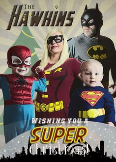 Super Hero Christmas Card