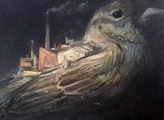 The Bird King: Small industrial estate on the back of a sparrow, ...