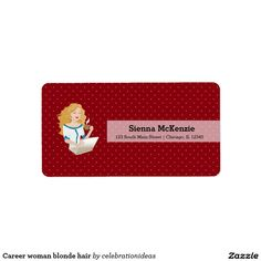 Sold #Career #woman #blondehair #label #wahm Available in different products. Check more at www.zazzle.com/celebrationideas