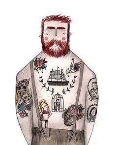 Tattoo man by Grace Easton