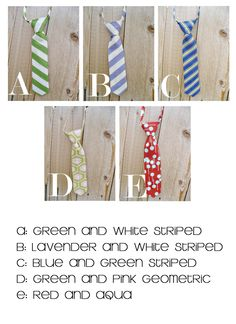 Ties for the boys for Easter