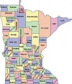 Counties Of Minnesota Quotations I Loveand Tidbits - County maps of minnesota