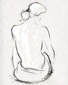 Pencil Art Drawings, Art Drawings Sketches, Easy Drawings, Wolf Drawings, Art Illustrations, Figure Painting, Painting & Drawing, Human Figure Drawing, Art Inspiration Drawing