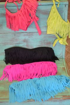Fringe swimsuit tops!