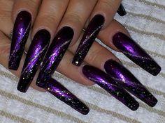 Purple passion Fabulous Nails, Perfect Nails, Gorgeous Nails, Pretty Nails, Purple Chrome Nails, Long Red Nails, Long Fingernails, Sexy Nails, Hot Nails