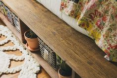 DIY platform bed (with storage!)