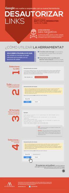 Herramienta para desautorizar links de Google #infografia #infographic #seo   TICs y Formación