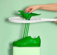 how are produced Adidas Originals Superstar #Supercolor green