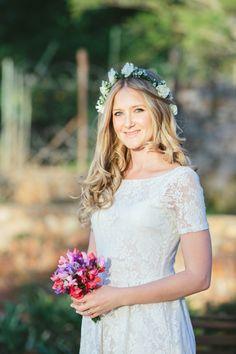 romantic bridesmaid look // photo by Lad  Lass http://ruffledblog.com/backyard-south-african-wedding #bridesmaids #bohemian #wedding