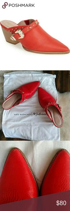 Kate Bosworth x Matisse Judith Mule I love these shoes, but I've only worn them once and they deserve to be shown off! Great condition, box and shoe bag included. Fit is true to size. Would be adorable with a denim dress. Matisse Shoes