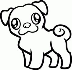 How to Draw a Pug for Kids, Step by Step, Animals For Kids, For Kids, FREE Online Drawing Tutorial, Added by Dawn, August 24, 2012, 1:23:43 am