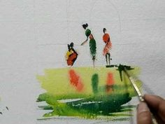 Watercolour finger painting by Milind Mulick