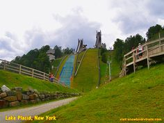 How high are those Olympic ski jumps in Lake Placid, NY? ....Very!  On the RV Road with Niki, Jack and snowbirdrvtrails.com. Ski Jumping, Winter Olympics, Day Trips, Skiing, Rv, Golf Courses, Fair Grounds, Travel, Winter Olympic Games