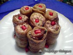 Рулетики баклажановые с орехами - очень вкусная закуска, разновидность грузинских овощных салатов.