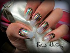 Nails navideñas...!!!! Uñas y mas Diseño hecho en Fashion Zone Monterrey 8348.9999. Especialistas en uñas acrílicas.