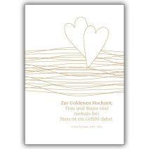 Liebevolle Glückwunschkarte zur Goldenen Hochzeit