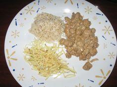Estrogonoff de proteina de soja.