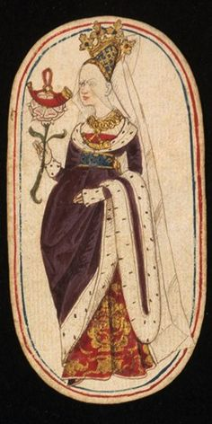 Queen (4), from the Cloisters set of fifty-two playing cards, ca. 1470–1485, South Netherlandish.