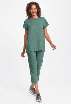 2019 Classics Two & Fall Traveler Looks Womens Linen Clothing, Flax Clothing, Linen Pants, Summer Outfits, Normcore, Plus Size, Summer Clothing, Chic, Tees