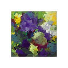 NOVICA Colorful Impressionist Painting of Flowers from Brazil ($355) ❤ liked on Polyvore featuring home, home decor, wall art, impressionist paintings, paintings, novica, flower painting, flower stem, novica paintings and motivational wall art